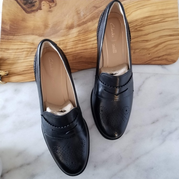 be244a74024 Clarks Shoes   New Netley Lola Penny Loafers Black Slipon   Poshmark
